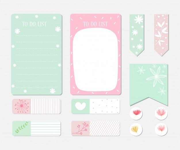 Elementi di design per notebook Vettore Premium