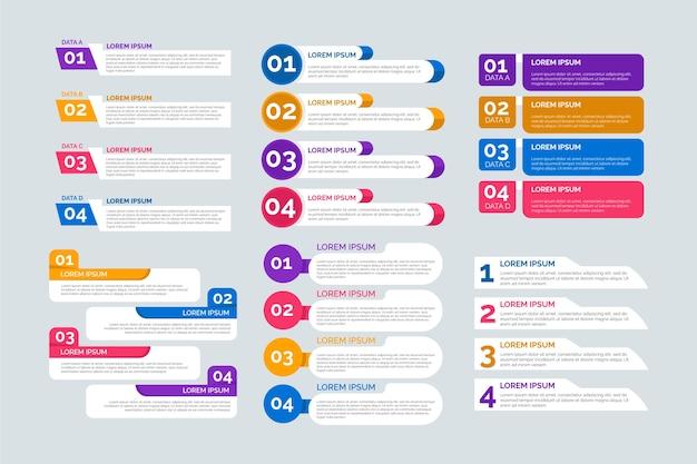 Elementi di design piatto infografica Vettore gratuito
