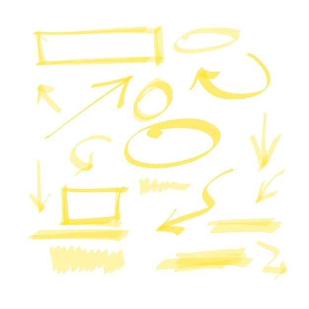 Elementi di disegno disegnati a mano Vettore gratuito