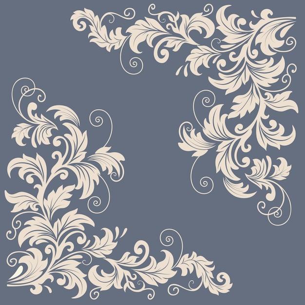 Elementi di disegno floreale vettoriale per la decorazione della pagina Vettore gratuito