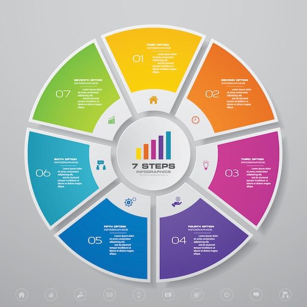 Elementi di infografica del diagramma del ciclo per la presentazione dei dati. Vettore Premium