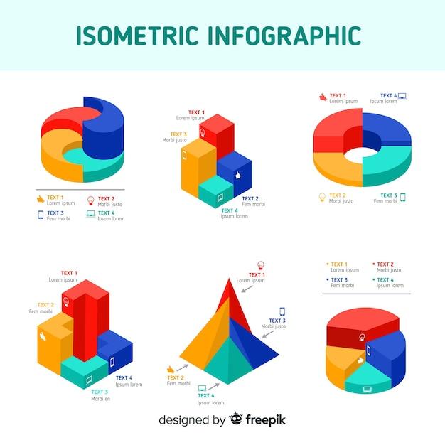 Elementi di infografica isometrica Vettore gratuito