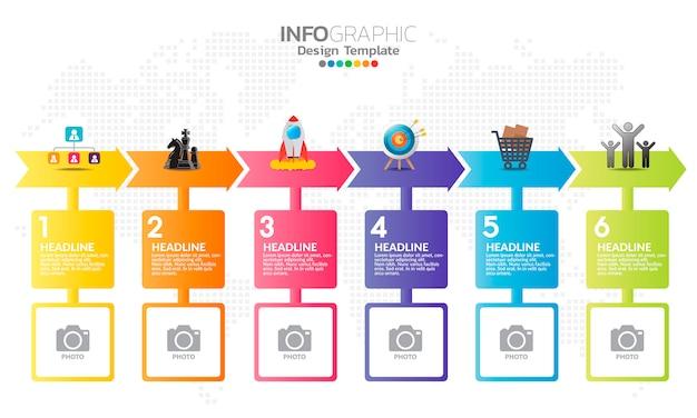Elementi di infografica per contenuti. Vettore Premium