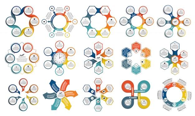 Elementi di infographics collezione elementi Vettore Premium