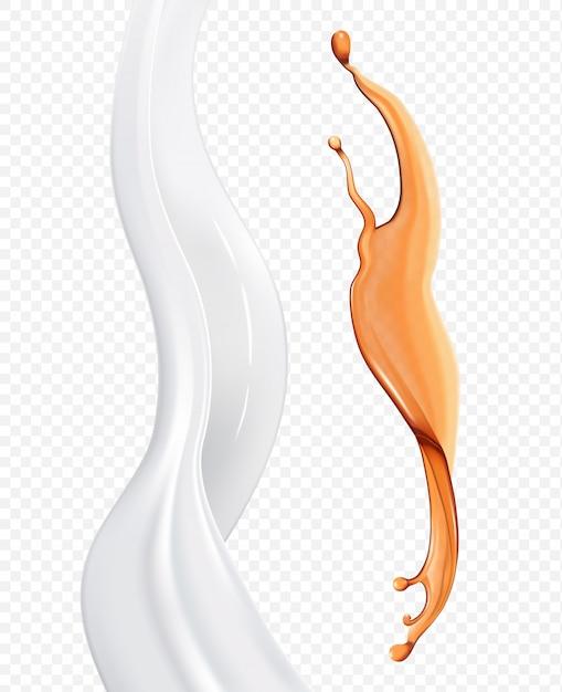 Elementi di olio e crema traslucidi Vettore Premium