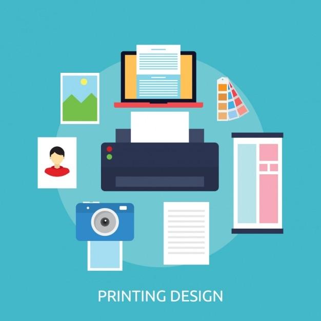 Elementi di stampa sfondo di design Vettore gratuito