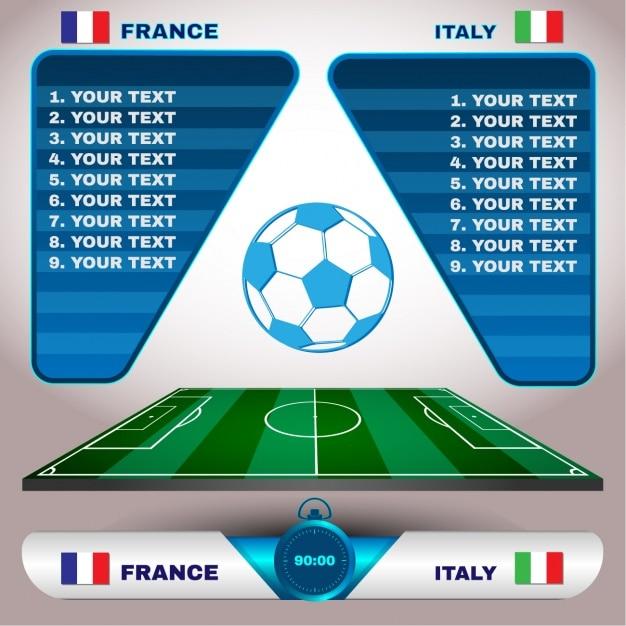 Elementi football collection Vettore gratuito