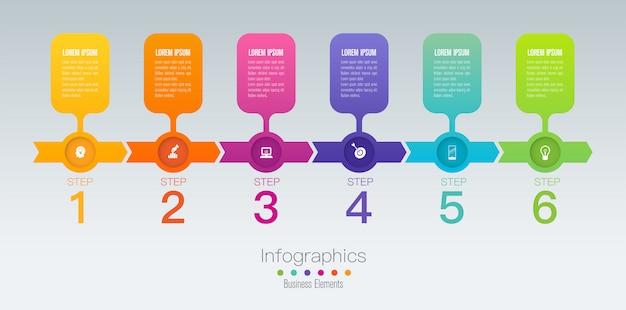 Elementi infographic di cronologia Vettore Premium
