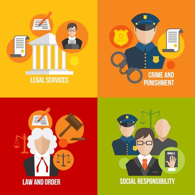 Elementi piani di legge Vettore gratuito