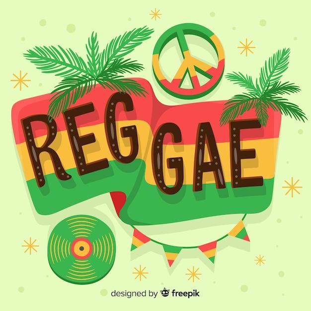 Elementi reggae sfondo Vettore gratuito