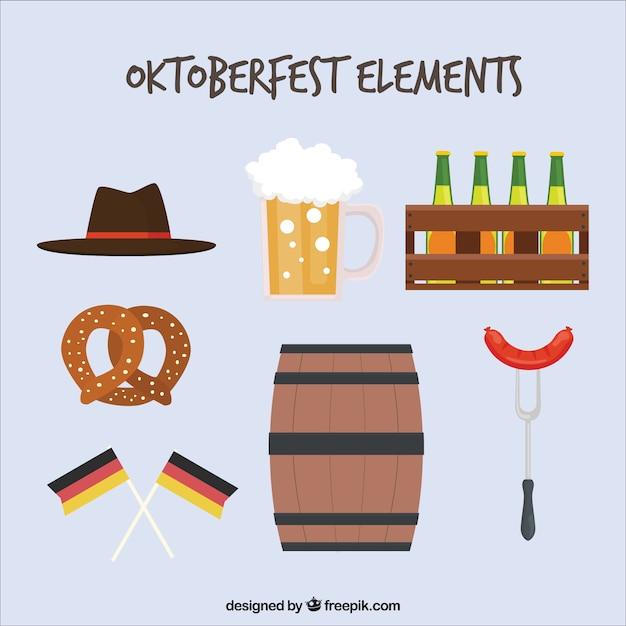 Elementi tedeschi per il partito oktoberfest Vettore gratuito