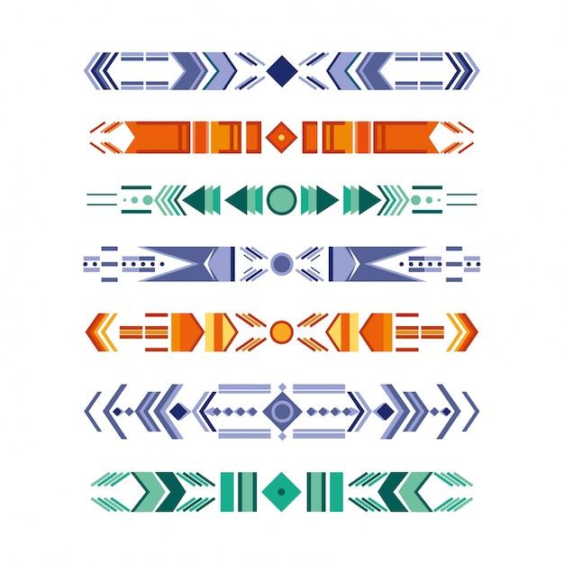 Elementi tribali Vettore gratuito