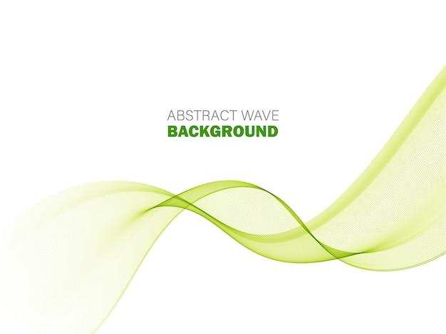 Elemento d'ondeggiamento verde astratto dell'onda verde del fondo Vettore Premium