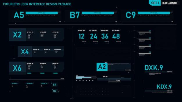 Elemento dell'interfaccia utente futuristico Vettore Premium