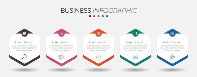Elemento di business infografica con opzioni Vettore Premium
