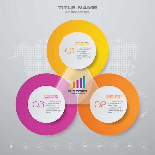 Elemento di design grafico infografica Vettore Premium