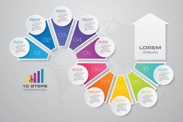 Elemento di design infografica freccia. Vettore Premium