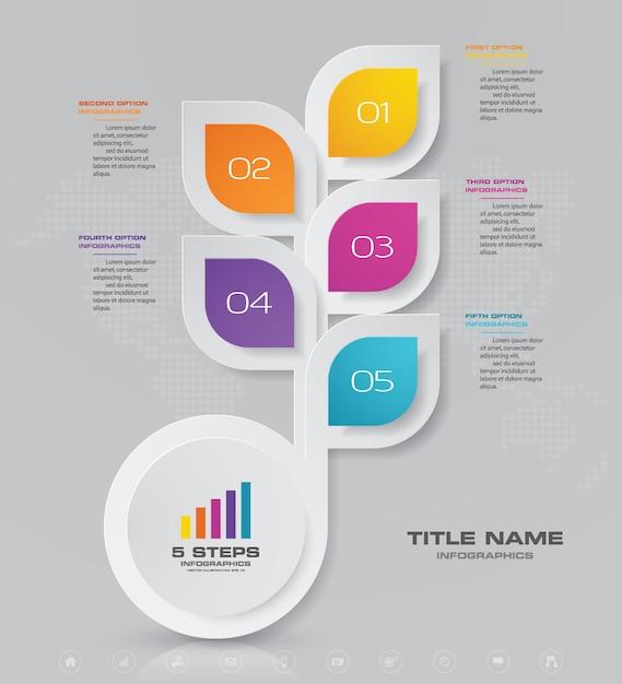 Elemento di disegno astratto grafico infografica Vettore Premium