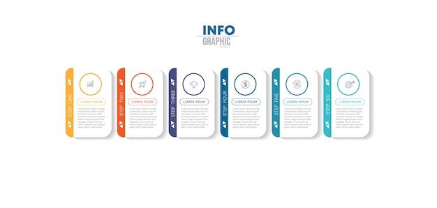 Elemento di infografica con icone e opzioni o passaggi. Vettore Premium