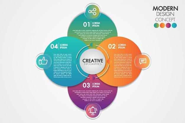 Elemento di infografica di affari Vettore Premium