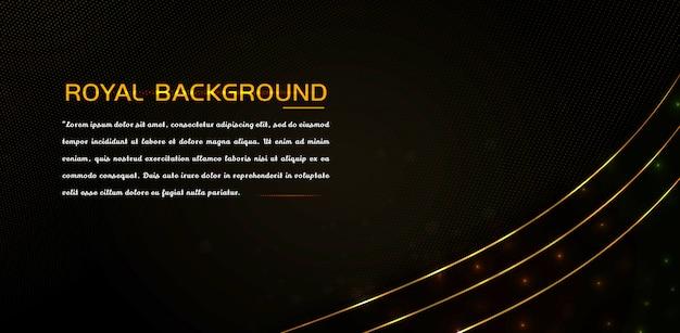 Elemento di lusso con effetto oro lucido e linee luminose Vettore Premium