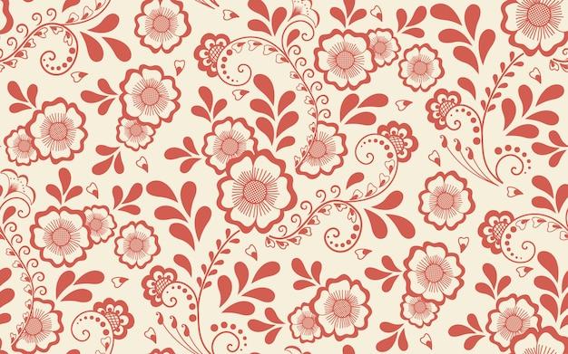 Elemento floreale senza cuciture in stile arabo. motivo arabesco. ornamento etnico orientale. Vettore gratuito