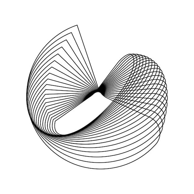 Elemento geometrico circolare astratto Vettore gratuito