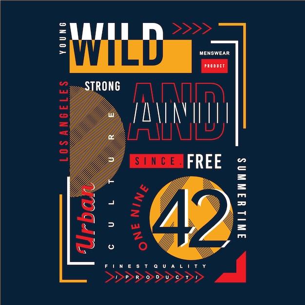 Elemento grafico di parola slogan per la maglietta di stampa Vettore Premium