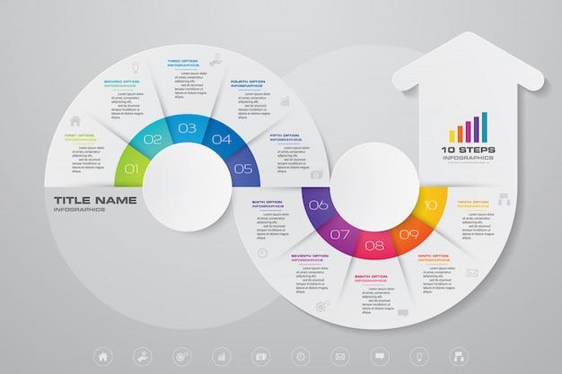 Elemento grafico freccia infografica. Vettore Premium