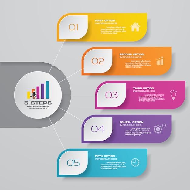 Elemento infografica grafico di presentazione. Vettore Premium