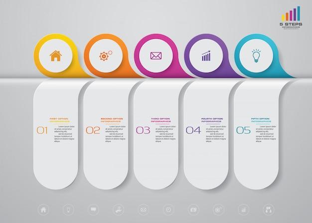Elemento infografica timeline Vettore Premium