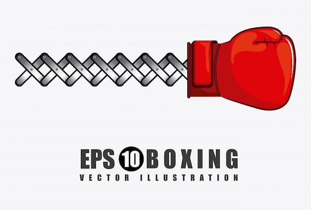 Elemento semplice di boxe Vettore gratuito