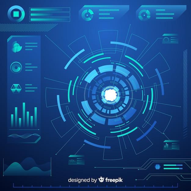 Elementos gráficos futuristas Vettore gratuito