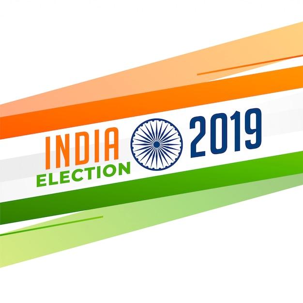 Elezione indiana 2019 design Vettore gratuito