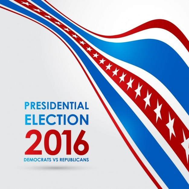 Elezione presidenziale 2016 democratici vs repubblicani Vettore gratuito