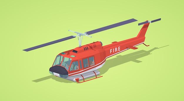 Elicottero antincendio Vettore Premium