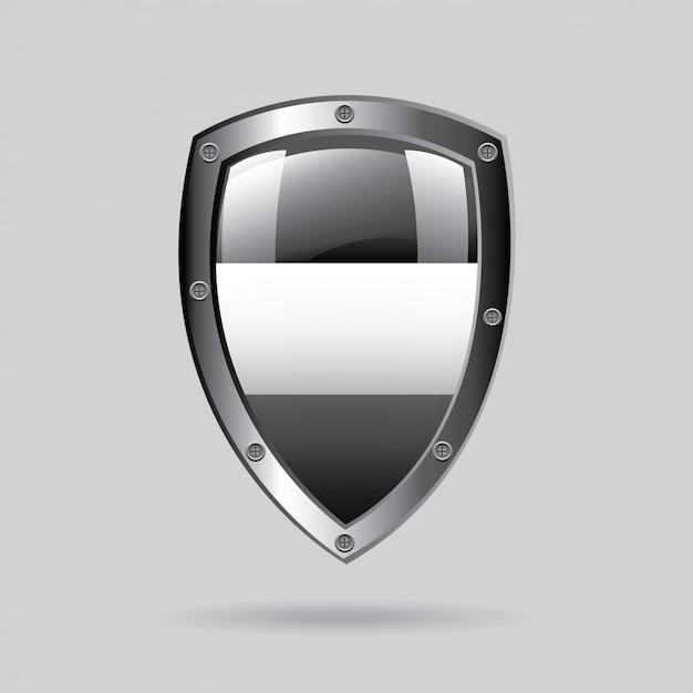 Emblema d'argento Vettore gratuito
