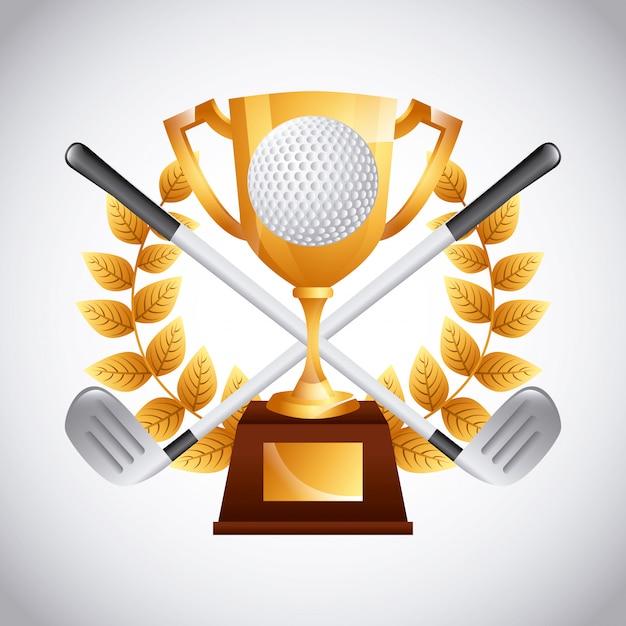 Emblema del golf club Vettore Premium