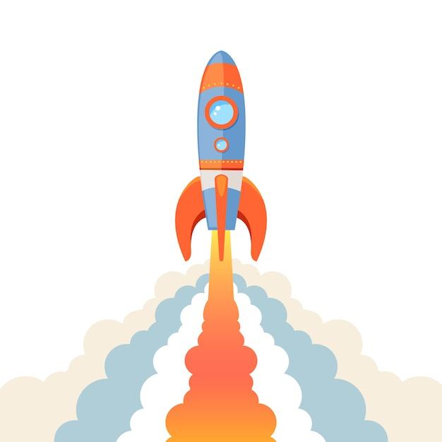 Emblema del razzo isolato Vettore gratuito