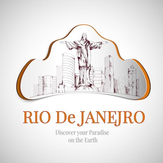 Emblema della città di rio de janeiro Vettore gratuito