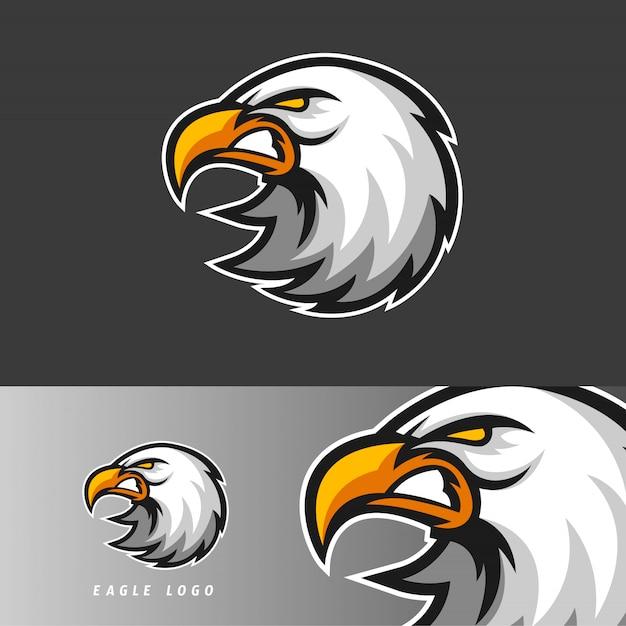Emblema della mascotte di gioco di eagle esport Vettore Premium