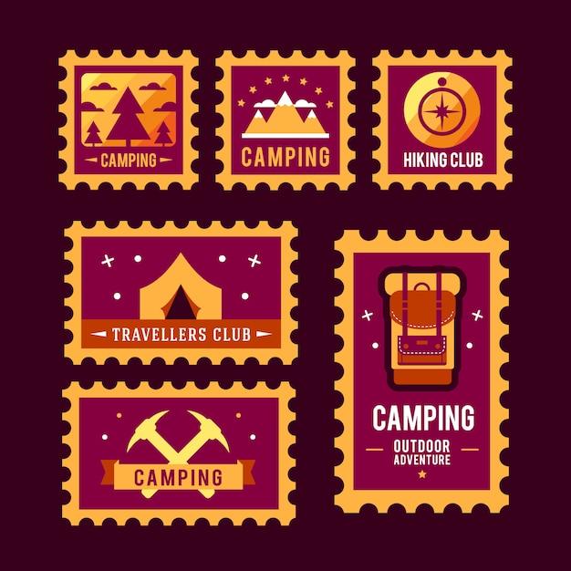 Emblema di logo di progettazione grafica distintivo avventura avventura di campeggio Vettore gratuito