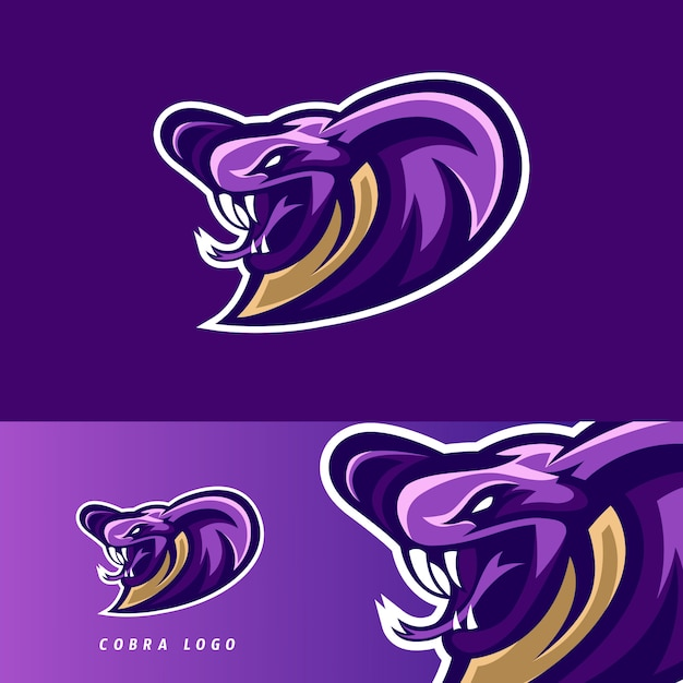 Emblema di mascotte gioco cobra esport Vettore Premium