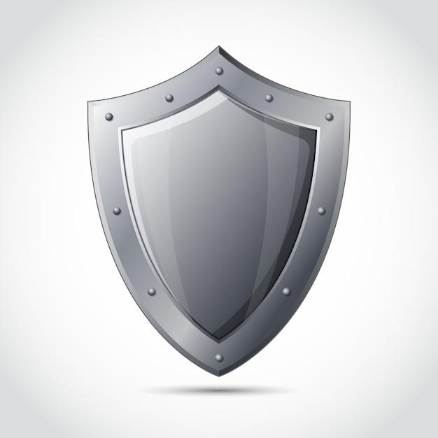 Emblema di protezione business shield bianco Vettore gratuito