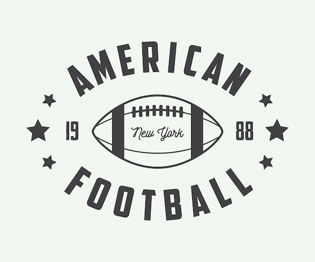 Emblemi di football americano. Vettore Premium