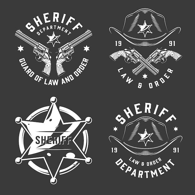 Emblemi vintage monocromatici Vettore gratuito