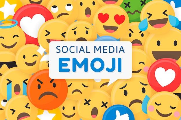 Emoji con motivi di sfondo Vettore gratuito
