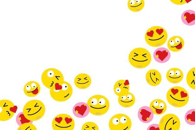 Emoji galleggianti Vettore gratuito