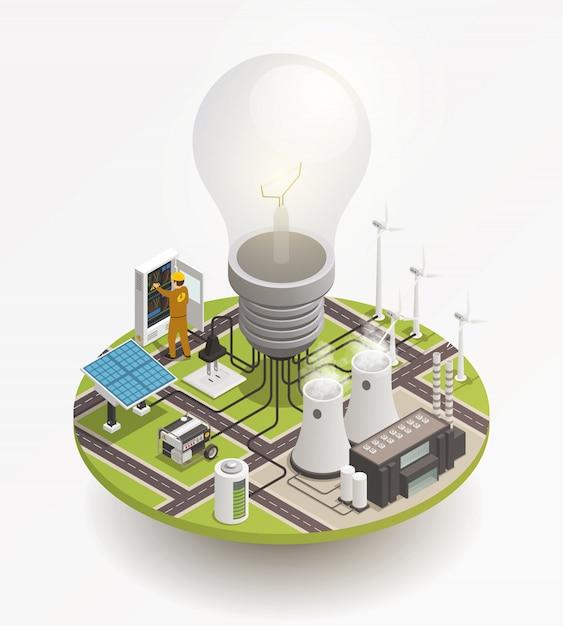 Energia elettrica Vettore gratuito