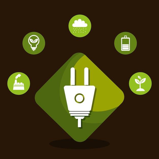 Energia rinnovabile Vettore gratuito